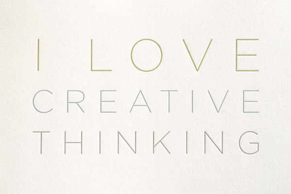 I Love Creative Thinking