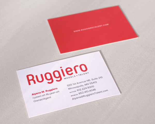Ruggiero Models & Talent Business Card